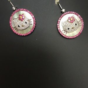 18k gold 925 Sanrio diamond and rubies mother Perl